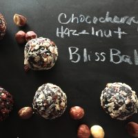 Chococherry Hazelnut Bliss Balls
